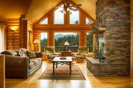 Log Cabin Living Room Concept New Design
