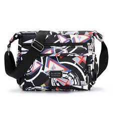 <b>Floral Shoulder Bag</b> Waterproof Oxford Rural Style <b>Messenger Bag</b> ...