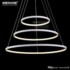 led round chandelier light white acrylic led hanging drop lamp for dining room led ring lamparas lighting for home modern led chandelierled round chandelie