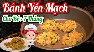 Bánh YẾN MẠCH Cho Bé từ 7 Tháng ĂN DẶM 😇 Bé Ăn Chơi Mà Lên Ký - Thực Đơn Ăn  Dặm #thucdonchobetangcan - YouTube