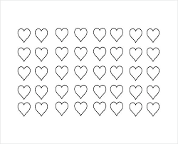 Free Printable Heart Templates Shaped Template Word Download Border