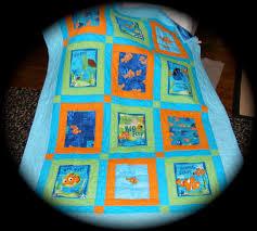 Disneys Finding Nemo Fabric Quilt made with Out of Print Finding ... & Disneys Finding Nemo Fabric Quilt made with Out of Print Finding Nemo  Fabrics Adamdwight.com