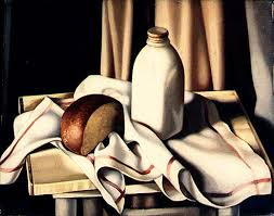 er still life with bottle of milk