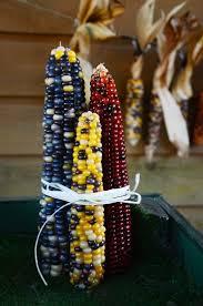 diy: indian corn decorations