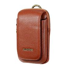 men pu leather outdoor sport casual phone bag cell phone pouch for 5 5 inches phone cod
