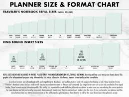 Traveler S Notebook Size Chart Printed Undated Week On 2 Pages Traveler S Notebook Sizes Are Micro Passport Pocket A6 Personal B6 Slim B6 Standard Wide A5 Composition