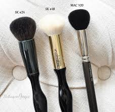 sonia kashuk hair brushes. sonia kashuk domed multi-purpose #18 comparison review dense blush powder #24 hair brushes