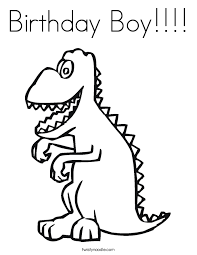 Small Picture Birthday Boy Coloring Page Twisty Noodle