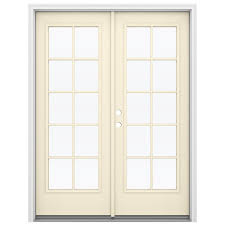 jeld wen 59 5 in x 79 5 in right hand inswing steel french patio door