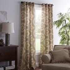 Printed Curtains Living Room Suzani Curtain Pier 1 Imports These Curtain Panels Have A