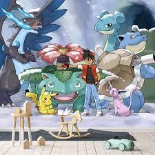 Tự Dính] 3D Pokemon Monsters 77 Nhật Bản Phim Hoạt Hình Tường Giấy ...