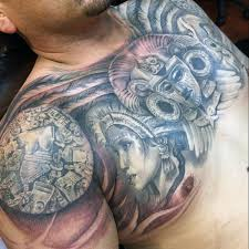 Aztec Tattoo Patterns Mesmerizing 48 Aztec Tattoos For Men Ancient Tribal And Warrior Designs