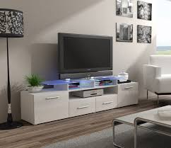 Ebern Designs Nyle Glass 60 Tv Stand Enea White Television Stands Tv Stand Cabinet White Tv