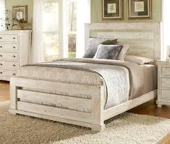 Progressive Bedroom Furniture Willow Slat Bedroom Set Distressed White Progressive Furniture