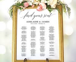 Wedding Seating Chart Sign Wedding Seating Chart Poster Etsy