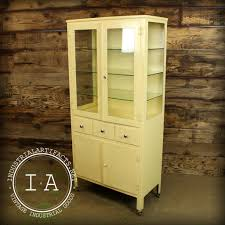 Vintage Industrial Antique Medical Apothecary Glass Cabinet Vitrine Di