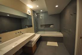 tub shower combo ideas Bathroom Contemporary with down lights jack