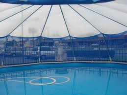Screened Sun Dome for 24 round above ground pool