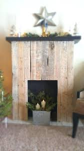 fireplace fake fireplace mantel diy easy pallet close free with faux fire splendid