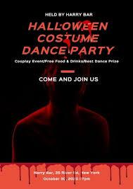Halloween Dance Flyer Templates Online Halloween Costume Dance Party Flyer Template Fotor