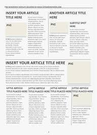 Basic Newspaper Template Newspaper Templates For Microsoft Word 2010