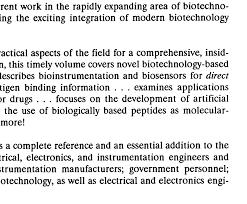 bioinstrumentation and biosensors