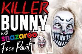 scary bunny makeup with snazaroo face paint