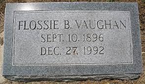 Flossie Moore Bonney Vaughan (1896-1992) - Find A Grave Memorial
