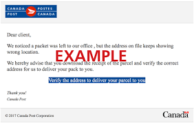 Email Deliver Email Virus Notice To Canada Post Customers Canada Post