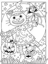 Small Picture Halloween cats coloring pages kittens great vintage coloring
