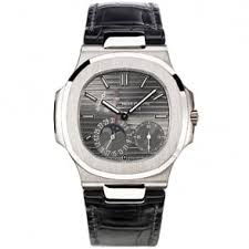 patek philippe calatrava complication pilot s travel time 18ct patek philippe nautilus power reserve 18ct white gold grey dial men s strap watch