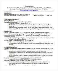 Education On A Resumes 15 Basic Education Resume Templates Pdf Doc Free