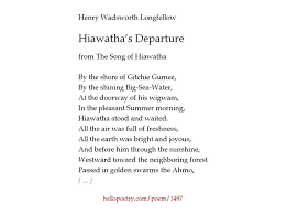 hiawatha s departure by henry wadsworth longfellow hello poetry hiawatha s departure by henry wadsworth longfellow hello poetry