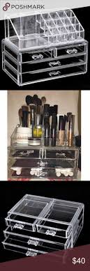 Large 5 drawer acrylic makeup organizer case | Makeup organizer case,  Acrylic makeup organizers and Clear acrylic makeup organizer
