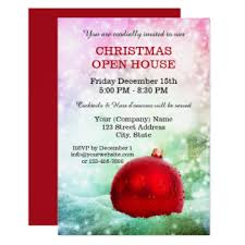 christmas open house flyer holiday open house invitations for business party with pine tree
