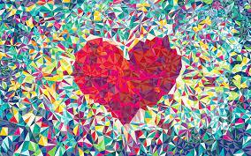 pixel-heart-love-abstruct-wallpaper ...