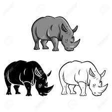 coloring book rhinoceros cartoon character vector ilration stock vector 37478683