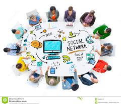 Communication Media Social Network Social Media People Meeting Communication Concept