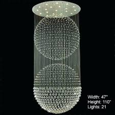 disco ball chandelier frightening medium size of lighting double sphere modern foyer crystal scenic for paper