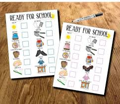 Adhd Morning Routine Chart Back To School Offer Kids Ready For School Morning Routine School Morning Planner