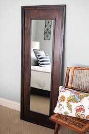 DIY Floor Length Mirror- this would hold up much better, less chance of the  cheap mirror bending and breaking!