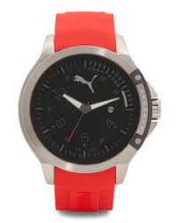 watches t j maxx men s red silicone strap sport watch