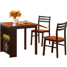 Amazoncom Bs Drop Leaf Dining Table With Chairs Shelves Storage