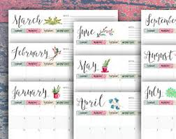 Monthly Calendar Notes | Visual Schedule Template