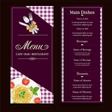 Free Menu Maker Design Restaurant Menus Adobe Spark Menu Card