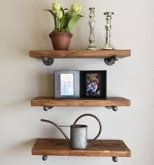 8 deep set of 3 industrial floating shelves rustic shelves pipe