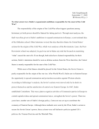 origins of the cold war essay cold war history essay cause of cold war