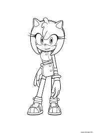 Coloriage Sonic Amy Dessin