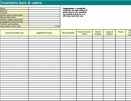 Inventario Excel Inventario Beni Di Valore Excel