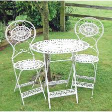 traditional cream bistro garden table and chairs set garden table chairs